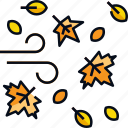 tree, falling leaves, leaves, leaf, falling, fall, autumn icon
