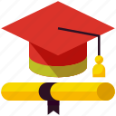 cap, celebration, degree, diploma, education, event, graduation