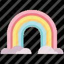 forecast, rainbow, sky, weather