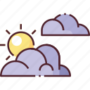 cloud, cloudy, forecast, partly cloudy, weather