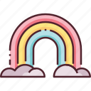 forecast, rainbow, sky, weather icon