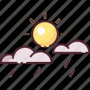 forecast, light rain, rain, sun, sunny shower, weather