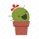 cactus, fun, smile icon