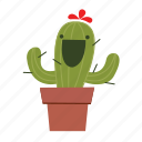 cactus, happy, laugh icon