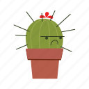 angry, cactus, mad icon