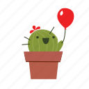 cactus, cute, kid icon