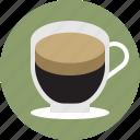 cafe, coffee, crema, espresso, macchiato, shot, single icon