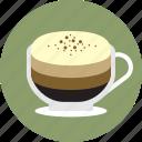 cafe, cappuccino, coffee, espresso, latte, macchiato, mochaccino icon