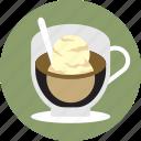 cafe, cafe affogato, coffee, espresso, ice cream, sffogato, vanilla icon