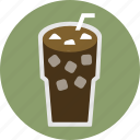 beverage, cafe, coffee, drink, espresso, ice cubes, iced coffee icon