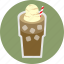 cafe, coffee, espresso, float, ice cream, iced coffee icon