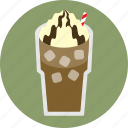cafe, coffee, espresso, iced coffee, whipped cream icon