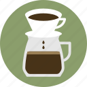 cafe, coffee, coffee maker, drip coffee, espresso, pour over, pour over coffee icon