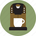 cafe, coffee maker, espresso maker, k cup, keuring coffee, pod cup, single shot icon