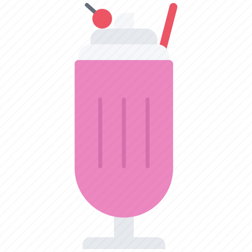 cherry, drink, milk, shake, sweet icon