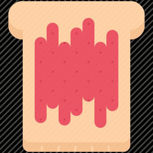 bread, cafe, food, jam, snack, sweet, toast icon