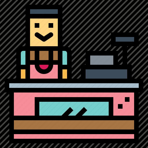 Cashier, job, profession, supermarket icon - Download on Iconfinder