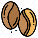 bean, coffee, drink, seeds icon