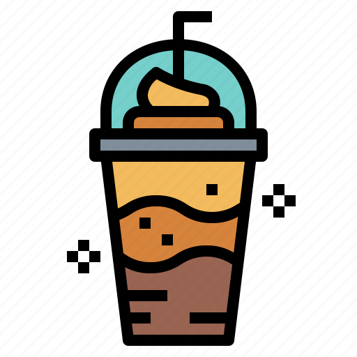 coffee, cold, frappe, glass icon