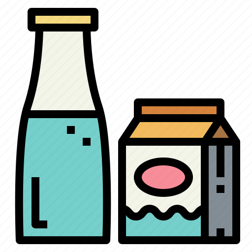 beverage, breakfast, drink, milk icon