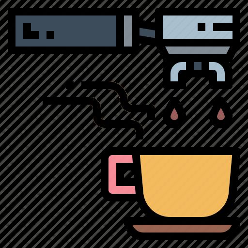 coffee, espresso, machine, portafilter icon