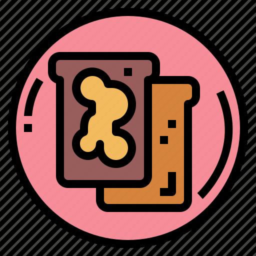 food, jam, toast, toasted icon