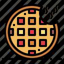 baker, dessert, food, waffle icon
