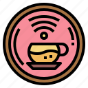 cafe, coffee, internet, wifi icon