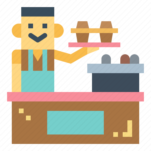 Barista, coffee, professional, server icon - Download on Iconfinder