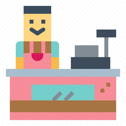 Cashier, job, profession, supermarket icon - Download on Iconfinder