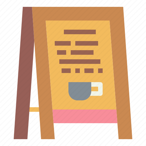 coffee, menu, paper, sign icon