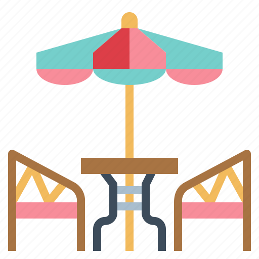 Cafe, furniture, table, umbrella icon - Download on Iconfinder