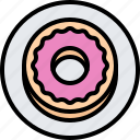 cafe, donut, food, lunch, plate, restaurant