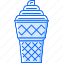 cafe, cream, food, ice, snack, sweet, wafer icon