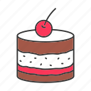 brownie, cake, confectionery, dessert, pastry, sweet, tiramisu icon