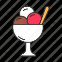 ball, creamy, dessert, food, frozen, ice cream, sweet icon