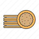 biscuit, confectionery, cookie, dessert, pastry, sandwich, sweet icon