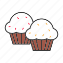 cake, confectionery, cupcake, dessert, muffin, pastry, sweet