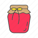 berry, fruit, jam, jar, jelly, marmalade, sweet icon
