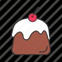 cotta, custard, dessert, panna, panna cotta, pudding, sweet icon
