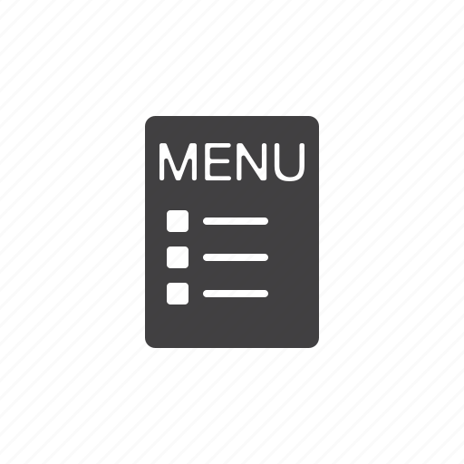 cafe, menu, restaurant icon