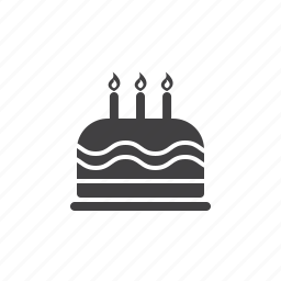 birthday, cake, candy icon