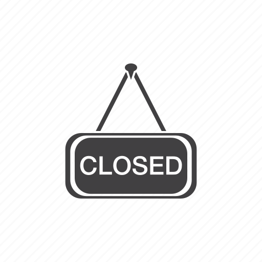 closed, door, sign icon