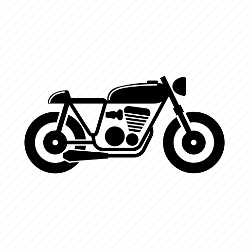 bike, cafe racer, classic, motorcycle, ride icon