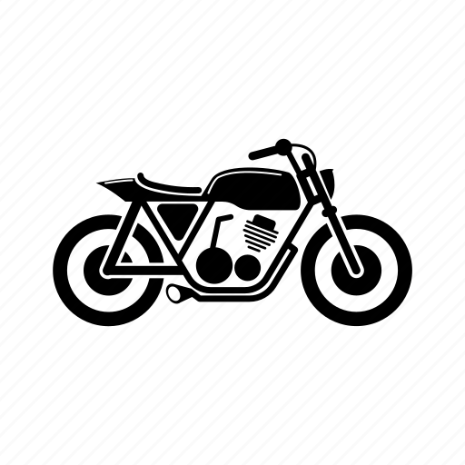 cafe, classic, motorcycle, racer, street, tracker icon