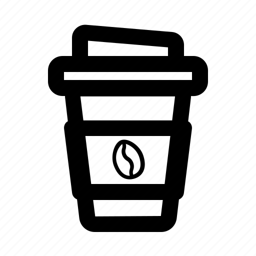 cafe, coffee, cup, drink, plastic icon