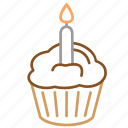 birthday, cake, candles, desert, sweet icon