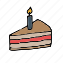 cake, candle, cupcake, pastry icon