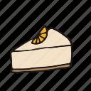 cake, cupcake, lemon, orange, pastry, piece