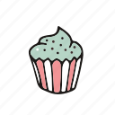cake, cupcake, party, pastry, sprinkles icon